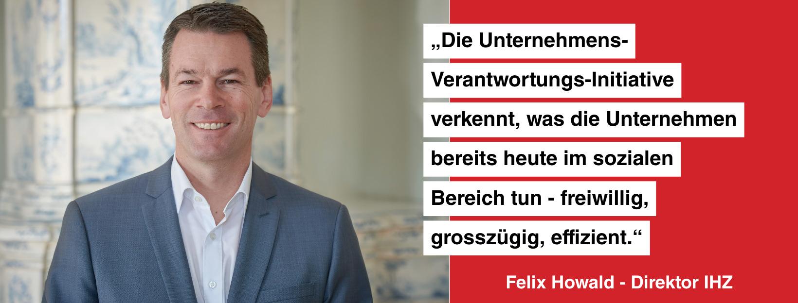 Statement von Felix Howald, Direktor des IHZ.